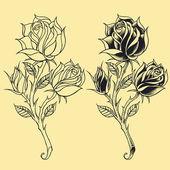 Roses Oldskool Tattoo style element