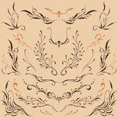 Floral frame & Border Ornaments set 05 Vector for Use
