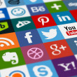 Social media icons arranged all together...