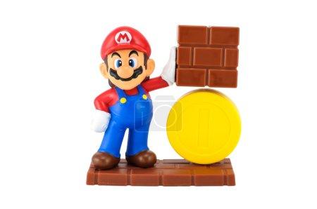 Super Mario with gold coin