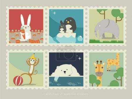 Stamps of mammal animal-2