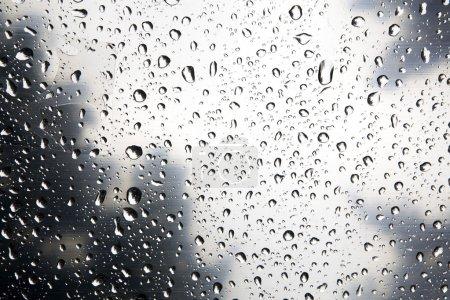 Photo pour Verre humide fond abstrait - image libre de droit