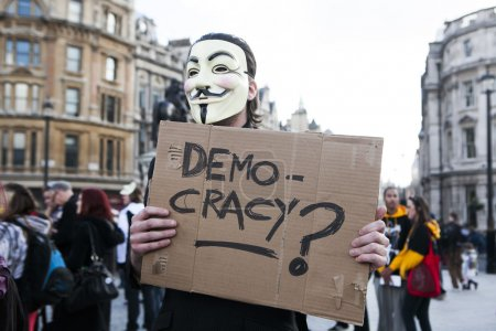 London protesters march against worldwide government corruption