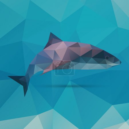 Illustration for Geometric vector polygonal shark - Royalty Free Image