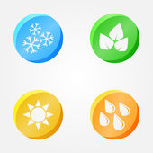 Vector symbols of 4 seasons - winter spring summer autumn