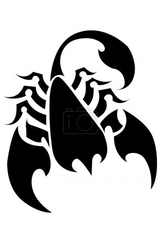 Illustration for Scorpion Tattoo Vector on a Isolated Background. Abstract Vector Illustration of Scorpion. - Royalty Free Image