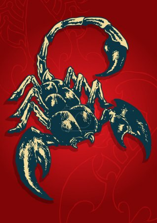 Illustration for Abstract Vector Illustration of Scorpion. - Royalty Free Image