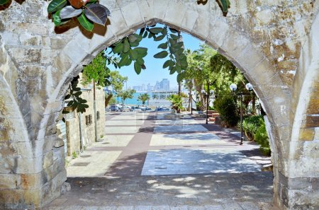 Old arches in Jaffa, Israel