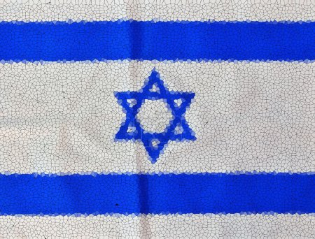 Stained glass Israel Flag on Independence Day