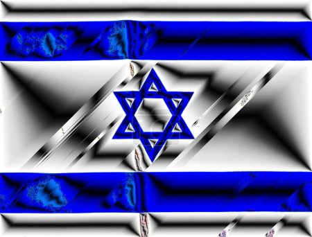 Metalic Israel Flag on Independence Day