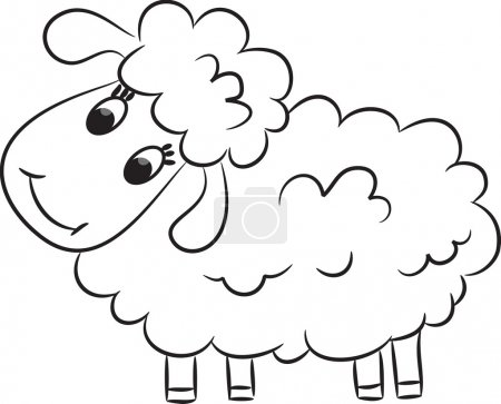 Illustration for Cartoon sheep. Vector illustration - Royalty Free Image