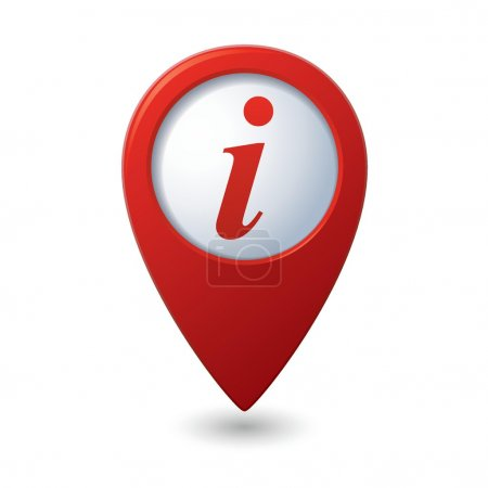 Illustration for Map pointer with information icon. Vector illustration - Royalty Free Image