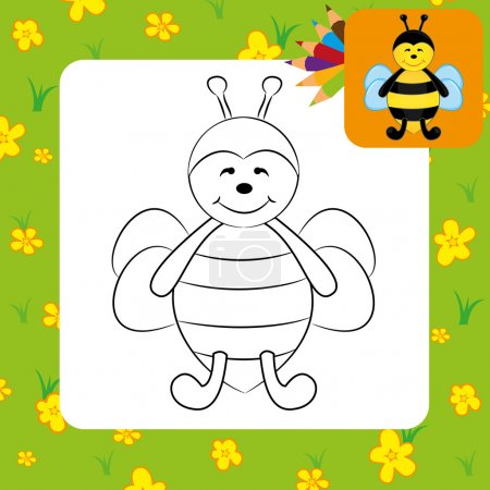Cute cartoon bee.