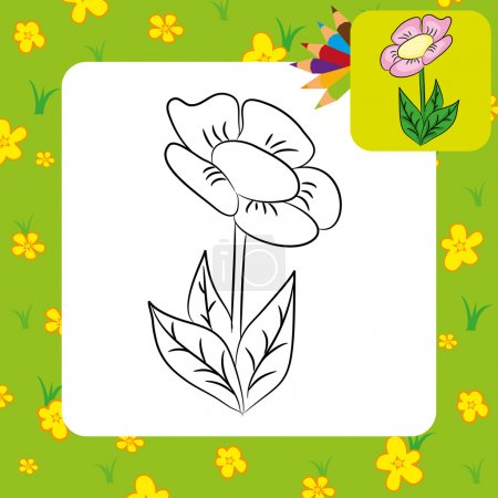 Cartoon flower.
