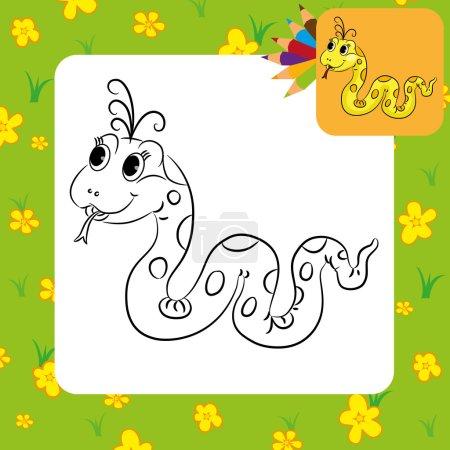 Funny cartoon snake.