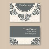 Stylish vintage business card template Vector illustration