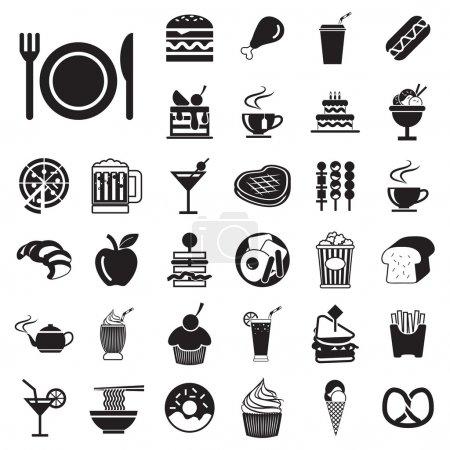 Photo pour Menu vectoriel icônes aliments et boissons ensemble EPS10 - image libre de droit