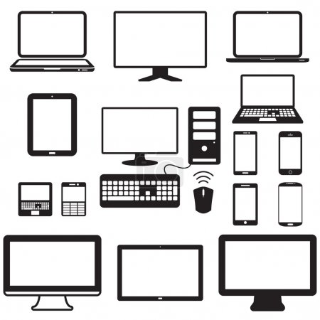 laptop, tablet computer, monitor and mobile screen