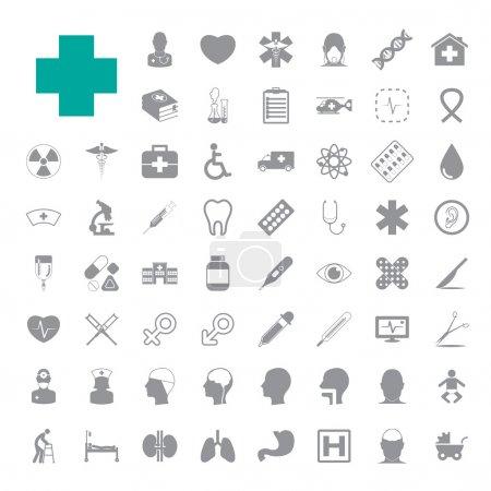 Illustration pour Ensemble d'icônes médicales EPS10 - image libre de droit