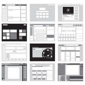 Ikona šablony webové stránky a pozadí
