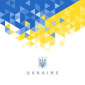 The national symbol of the Ukraine - abstract background