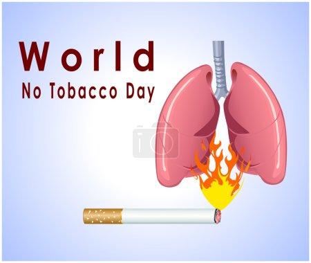 No tobacco day poster, no smoking, banner or flyer design