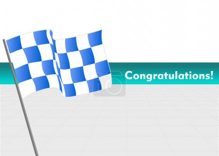 Vector Racing flag with congratulations