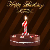 1 Year happy birthday hard with cake and candles 1st birthday - vector EPS10