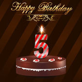 Created birthday card in vector