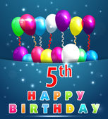 Created birthday cards in vector