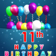 Created birthday cards in vector...