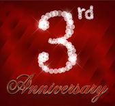 """Постер, картина, фотообои """"3 года с днем рождения карта, 3-й день рождения - вектор eps10"""""""