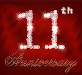 11 Year Happy Birthday Card 11th birthday - vector EPS10