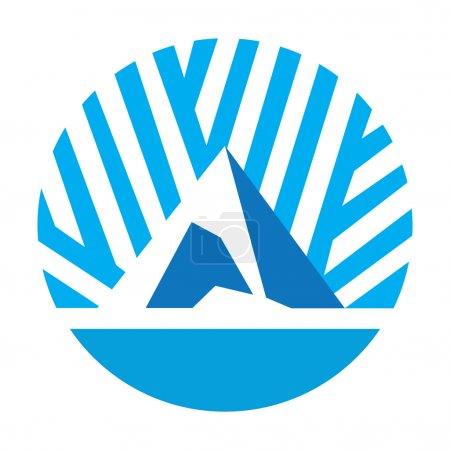 Abstract ice peak icon