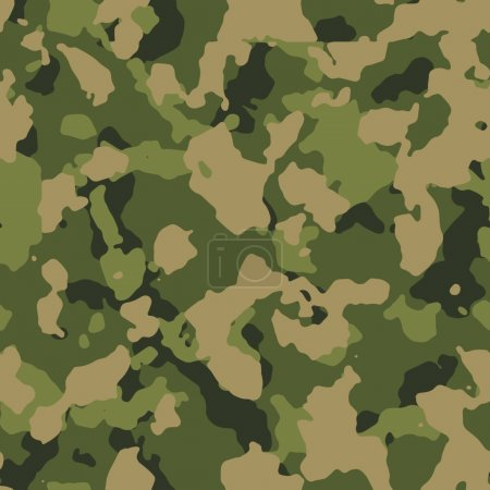 Green woodland seamless camo pattern vector