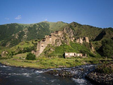 Shatili village in Upper Khevsureti