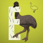 letter E emu