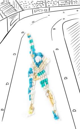 Skating race.