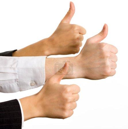 Hands showing okay
