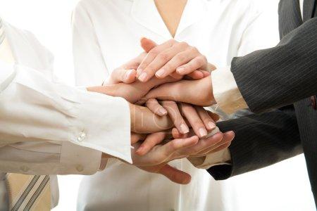 Business people hands