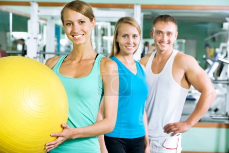Woman with  fitness trainer