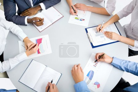 Image of business people hands