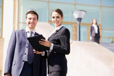 Photo for Young and successful businesspeople - Royalty Free Image