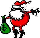 Tulák zloděj červený santa oblečení