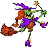 Mosolygós vidám és jó boszorkány