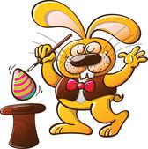 Easter rabbit doing magic tricks