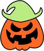 Scary orange scarecrow