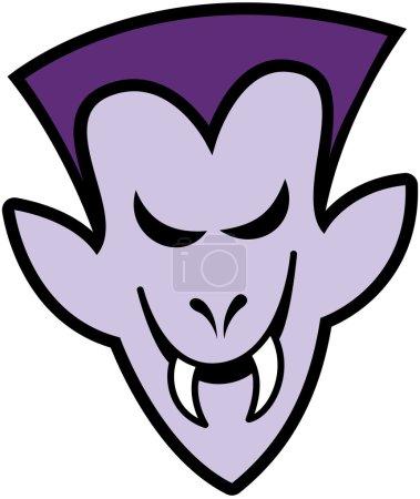 Terrific purple vampire