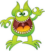 Enthusiastic funny monster