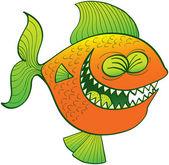 Funny orange fish